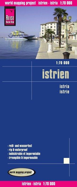 landkaart, wegenkaart Istrië 1:70.000 9783831772124  Reise Know-How WMP Polyart  Landkaarten en wegenkaarten Kroatië