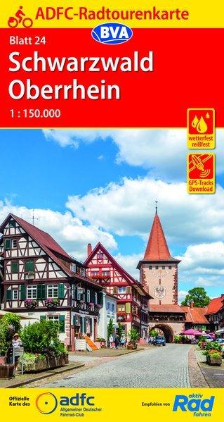 ADFC-24 Schwarzwald/Oberrhein (Zwarte Woud) | fietskaart 1:150.000 9783870739119  ADFC / BVA Radtourenkarten 1:150.000  Fietskaarten Baden-Württemberg, Zwarte Woud
