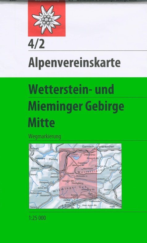AV-04/2 Wetterstein/ Mieminger Geb./ Mitte [2018] Alpenvereinskarte wandelkaart 9783928777209  AlpenVerein Alpenvereinskarten  Wandelkaarten Tirol & Vorarlberg