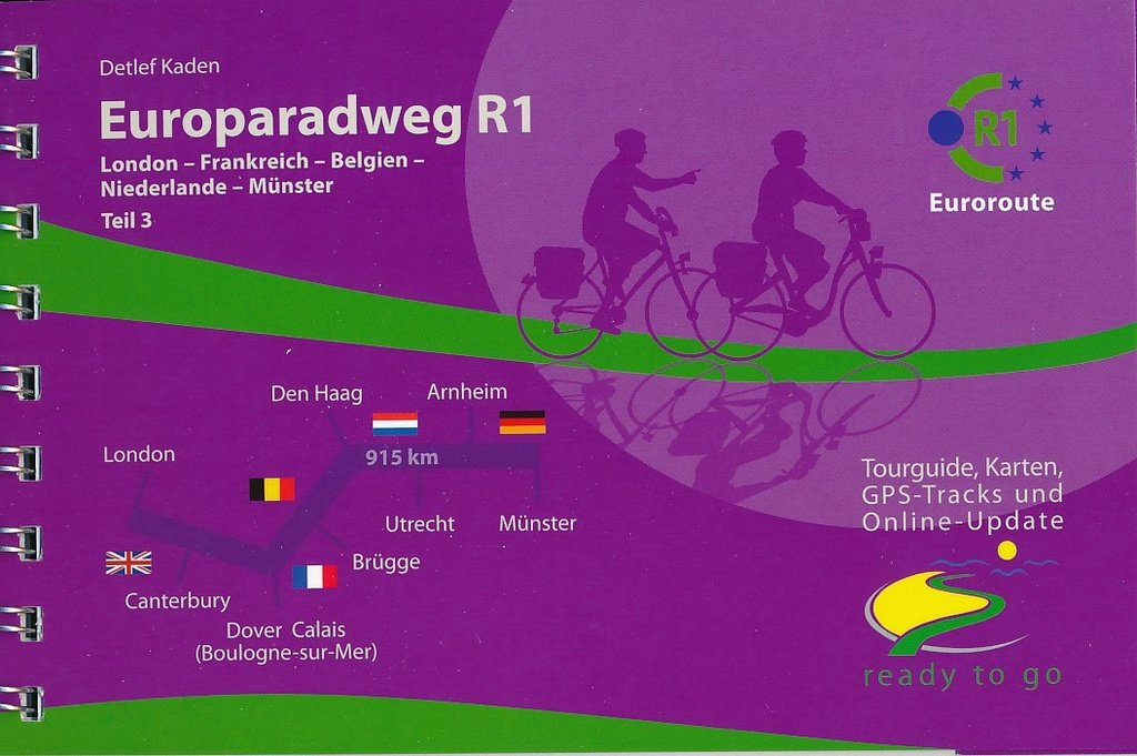 Europaradweg R1  (1) Londen -  Den Haag - Münster 9783981718683 Detlef Kaden IS.RADWEG   Fietsgidsen, Meerdaagse fietsvakanties Europa