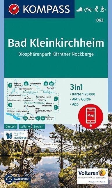 KP-063 Bad Kleinkirchheim/N.P. Nockberge | Kompass wandelkaart 9783990443170  Kompass Wandelkaarten   Wandelkaarten Salzburg, Karinthë, Tauern, Stiermarken