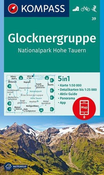 KP-39  Glocknergruppe, NP Hohe Tauern | Kompass wandelkaart 9783990444788  Kompass Wandelkaarten Kompass Oostenrijk  Wandelkaarten Salzburg, Karinthië, Tauern, Stiermarken