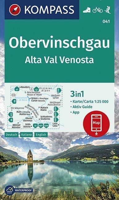 KP-041 Vinschgauer Oberland | Kompass wandelkaart 9783990446171  Kompass Wandelkaarten Kompass Italië  Wandelkaarten Zuid-Tirol, Dolomieten