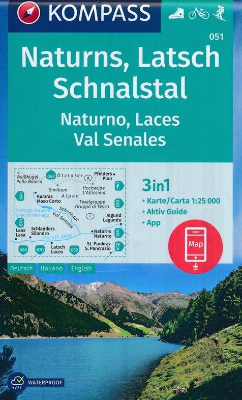 KP-051  Naturns, Latsch, Schnalstal | Kompass wandelkaart 1:25.000 9783990446195  Kompass Wandelkaarten   Wandelkaarten Zuidtirol, Dolomieten, Friuli, Venetië, Emilia-Romagna
