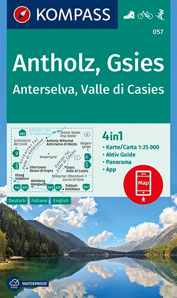 KP-057  Antholz, Gsies | Kompass wandelkaart 1:25.000 9783990446218  Kompass Wandelkaarten   Wandelkaarten Zuidtirol, Dolomieten, Friuli, Venetië, Emilia-Romagna