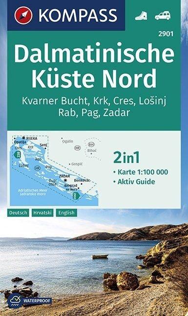 KP-2901 Dalmatinische Küste Nord 1:100.000 9783990447345  Kompass   Landkaarten en wegenkaarten Kroatië
