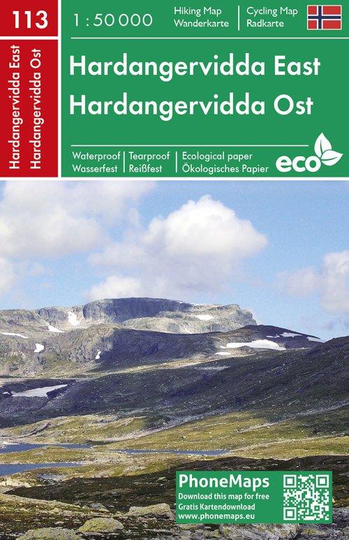 F&B-113 Hardangervidda Oost 1:50.000 9788074454349  Freytag & Berndt Phone Maps  Wandelkaarten Zuid-Noorwegen