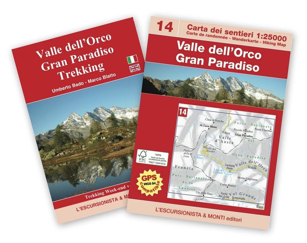 ESC-14  Valle dell Orco | wandelkaart 1:25.000 9788898520534  Escursionista   Wandelkaarten Ligurië, Piemonte, Lombardije
