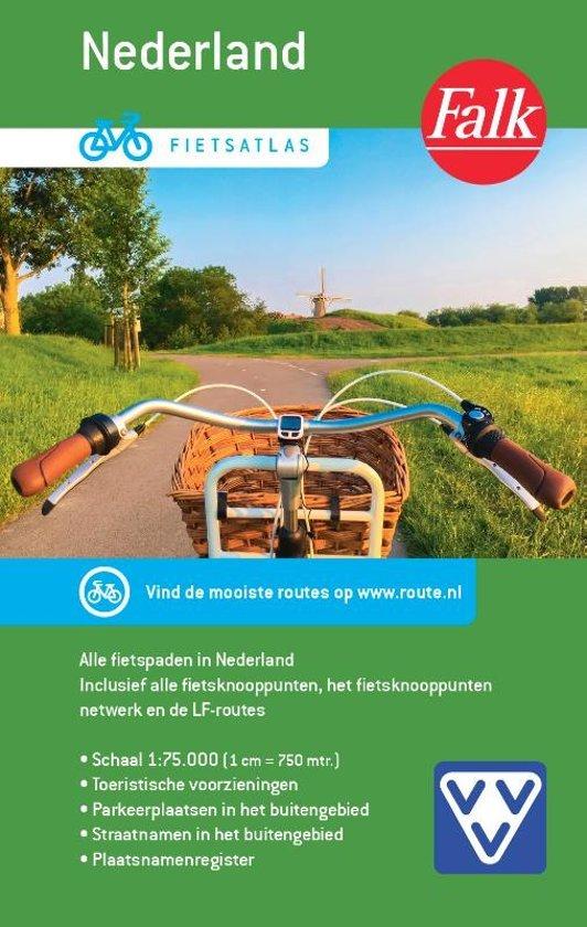 Fietsatlas Nederland,  1/75.000 9789028700444  Falk   Fietsgidsen, Fietskaarten Nederland