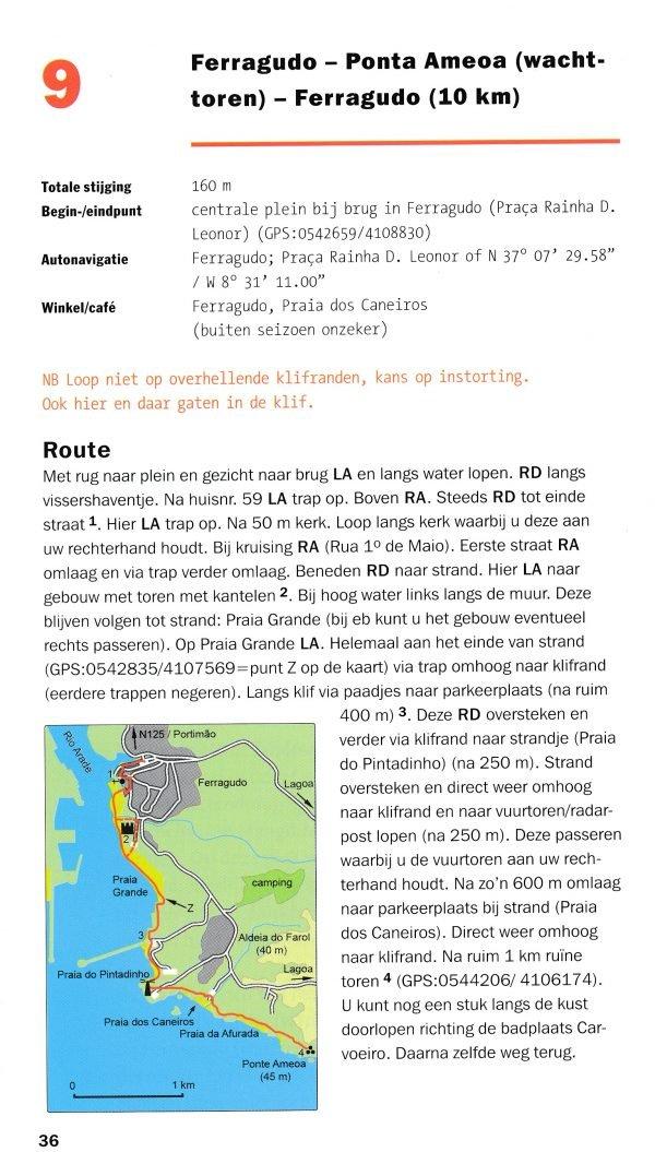 Voetwijzer Algarve 9789074980265 Roel Klein, Bert Stok Op Lemen Voeten   Wandelgidsen Zuid-Portugal, Algarve