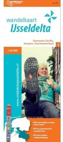 Wandelkaart IJsseldelta 1:25.000 9789082046526  Marketing Oost Wandelnetwerk Overijssel  Wandelkaarten Kop van Overijssel, Vecht & Salland