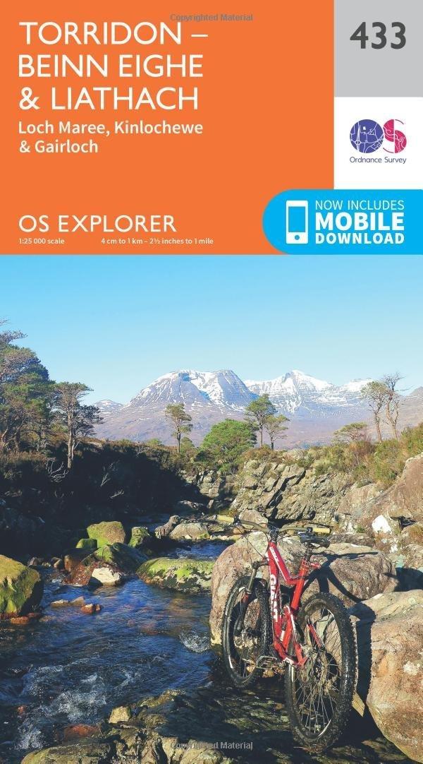 EXP-433  Torridon Hills   wandelkaart 1:25.000 9780319246658  Ordnance Survey Explorer Maps 1:25t.  Wandelkaarten de Schotse Hooglanden (ten noorden van Glasgow / Edinburgh)