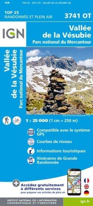 3741OT: Vallée de la Vésubie, Col de Turini | wandelkaart 1:25.000 9782758541974  IGN TOP 25  Wandelkaarten Var, Côte d'Azur, Mercantour