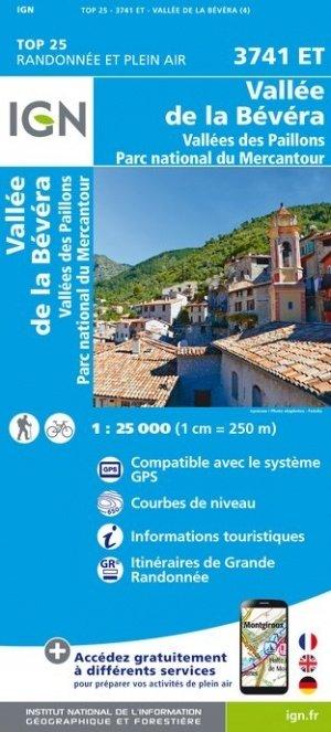 3741ET  Vallée de la Bévera/ P.N. du Mercantour | wandelkaart 1:25.000 9782758542889  IGN TOP 25  Wandelkaarten Var, Côte d'Azur, Mercantour