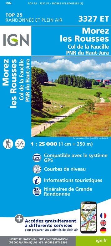 3327ET   les Rousses, Morez,Gex | wandelkaart 1:25.000 9782758546658  IGN TOP 25  Wandelkaarten Jura, Franche-Comté