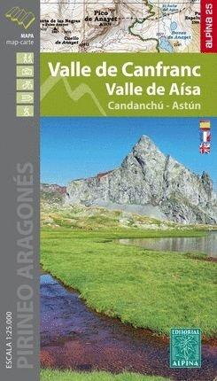 Valle de Canfranc-Aisa 1:25.000 9788480907880  Editorial Alpina Wandelkaarten Spaanse Pyreneeë  Wandelkaarten Spaanse Pyreneeën