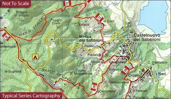 Via Francigena in Toscana   wandelkaart 1:50.000 9788833033020  Global Map   Lopen naar Rome, Wandelkaarten Toscane, Florence