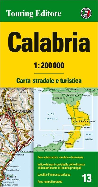 TCI-13  Calabria 1:200.000 9788836569076  TCI Italië Wegenkaarten  Landkaarten en wegenkaarten Napels en Zuid-Italië