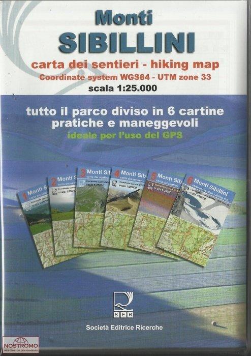Monti Sibillini 1: 25.000 9788886610568  Societa Editrice Ricerche   Wandelkaarten Toscane, Umbrië, de Marken