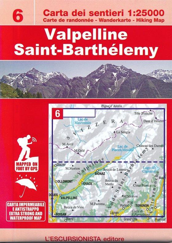 ESC-06  Valpelline, Saint-Barthélemy | wandelkaart 1:25.000 9788898520800  Escursionista   Wandelkaarten Aosta, Gran Paradiso
