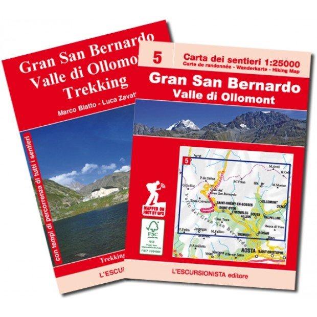 ESC-05  Gran San Bernardino, Ollomont | wandelkaart 1:25.000 9788898520855  Escursionista   Wandelkaarten Aosta, Gran Paradiso