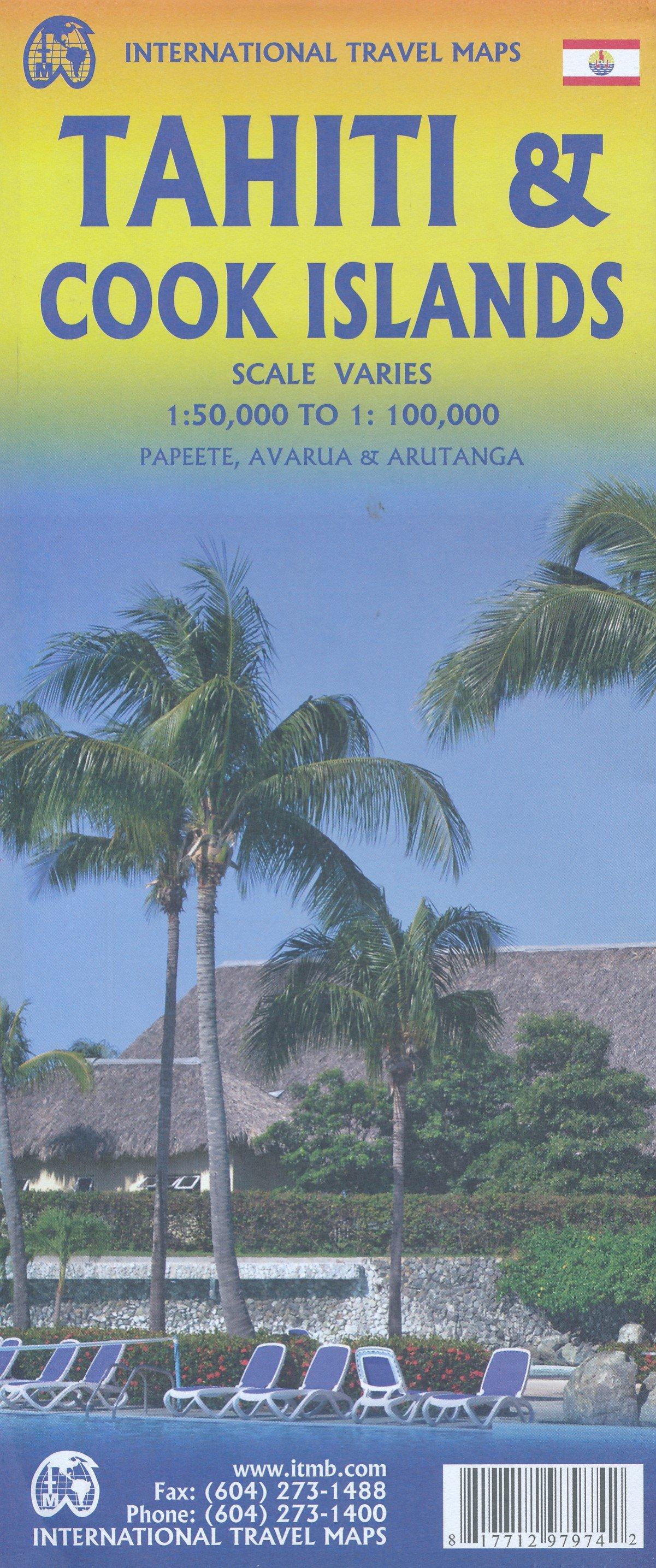 Tahiti & the Cook Islands   landkaart, autokaart 1:100.000 9781771297974  ITM   Landkaarten en wegenkaarten Pacifische Oceaan (Pacific)