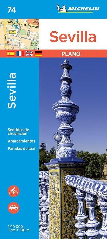 Sevilla 1:10.000 9782067236981  Michelin Stadsplattegronden  Stadsplattegronden Sevilla