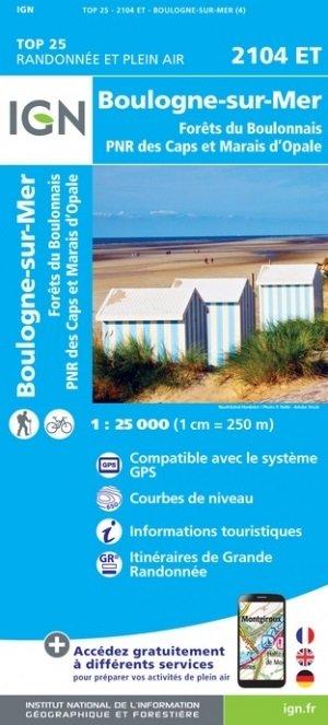 2104ET   Boulogne-sur-Mer | wandelkaart 1:25.000 9782758548324  IGN TOP 25  Wandelkaarten Picardie, Nord, Aisne, Pas-de-Calais