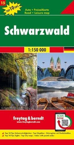 FBD-15 Zwarte Woud (Schwarzwald) 1:150.000 9783707918151  Freytag & Berndt F&B deelkaarten Duitsland  Landkaarten en wegenkaarten Baden-Württemberg, Zwarte Woud