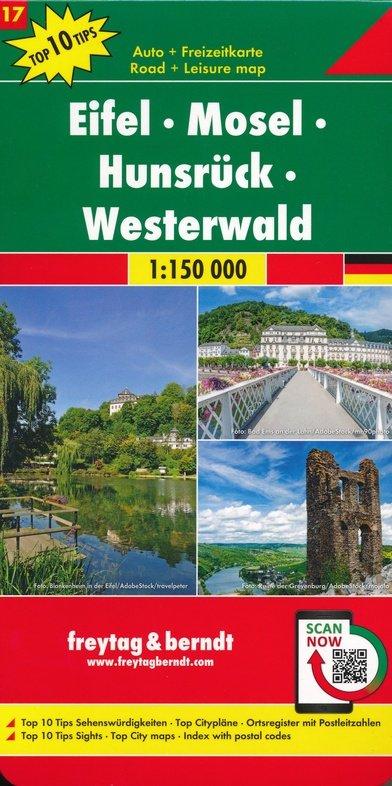 Overzichtskaart Eifel - Hunsrück - Westerwald 1:150.000 9783707918212  Freytag & Berndt F&B deelkaarten Duitsland  Landkaarten en wegenkaarten Eifel, Moezel, Rheinland-Pfalz