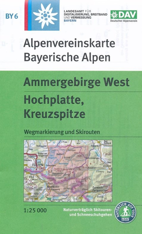 BY-06 Ammergebirge West | Alpenvereinskaart 1:25.000 9783937530895  Deutscher AlpenVerein Alpenvereinskarten  Wandelkaarten Beierse Alpen en München