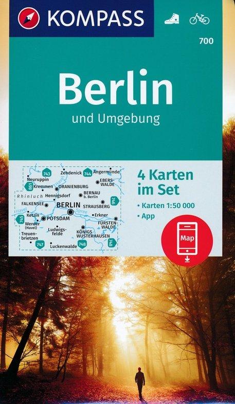 KP-700 Omgeving Berlijn 1:50.000 | Kompass wandelkaart 9783990446096  Kompass Wandelkaarten Kompass Duitsland  Wandelkaarten Berlijn