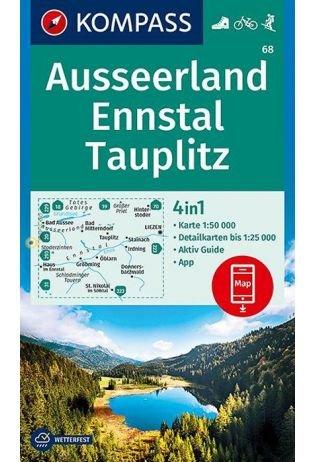 KP-68 Ausseerland - Ennstal | Kompass wandelkaart 9783990446614  Kompass Wandelkaarten   Wandelkaarten Salzburg, Karinthë, Tauern, Stiermarken