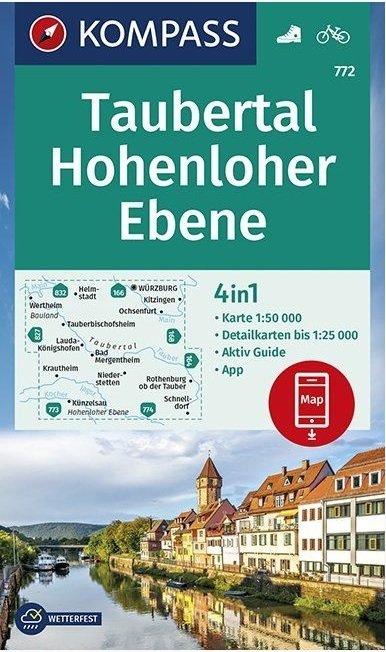 KP-772 Taubertal, Hohenlohe Ebene | Kompass wandelkaart 1:50.000 9783990447031  Kompass Wandelkaarten Kompass Duitsland  Wandelkaarten Heidelberg, Kraichgau, Stuttgart, Neckar