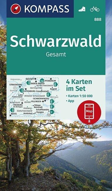 KP-888 Schwarzwald | Kompass wandelkaart Zwarte Woud 9783990447048  Kompass   Wandelkaarten Berlijn, Brandenburg