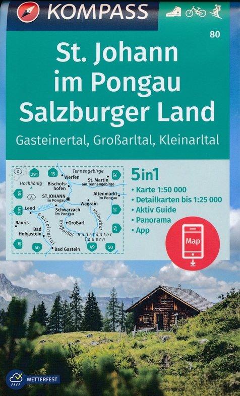 KP-80 St.Johann, Salzburgerland | Kompass 9783990447123  Kompass Wandelkaarten Kompass Oostenrijk  Wandelkaarten Salzburg, Karinthië, Tauern, Stiermarken