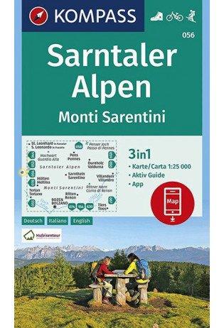 KP-056 Sarntaler Alpen | Kompass wandelkaart 1:25.000 9783990447253  Kompass Wandelkaarten   Wandelkaarten Zuidtirol, Dolomieten, Friuli, Venetië, Emilia-Romagna