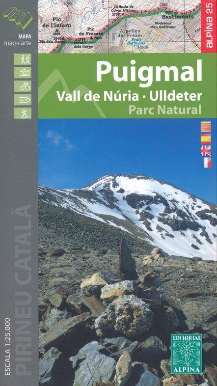 Puigmal, Vall de Núria, Ulldeter (1:25.000) 9788480907835  Editorial Alpina Wandelkaarten Spaanse Pyreneeë  Wandelkaarten Spaanse Pyreneeën