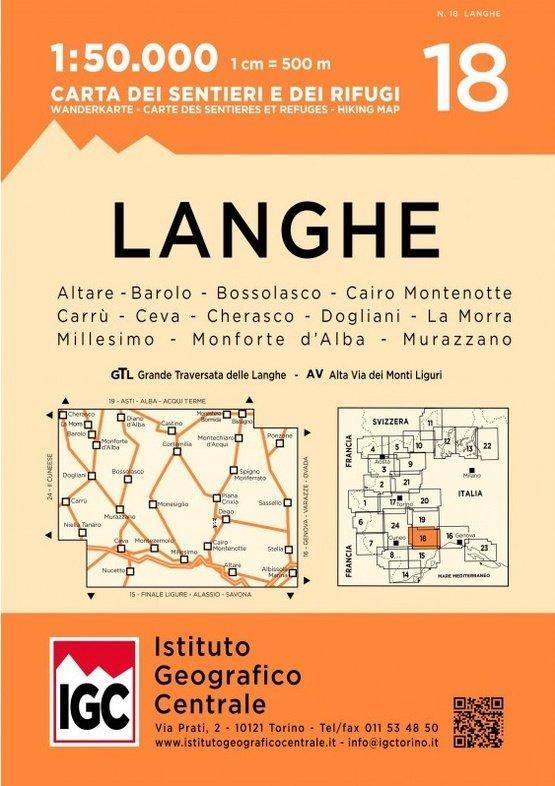 IGC-18: Langhe Meridionali | wandelkaart 1:50.000 9788896455678  IGC IGC: 1:50.000  Wandelkaarten, Wijnreisgidsen Turijn, Piemonte