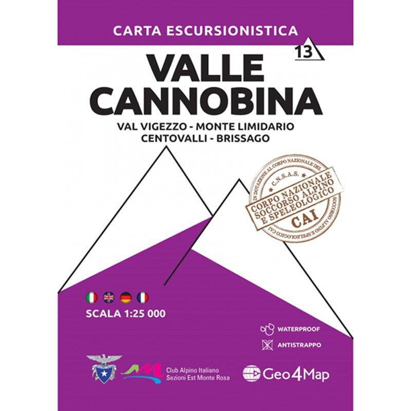 G4M-13 Valle Cannobina | wandelkaart 1:25.000 9788899606336  Geo4Map   Wandelkaarten Ligurië, Piemonte, Lombardije