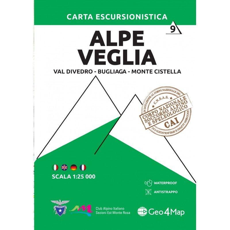 G4M-09 Alpe Veglia | wandelkaart 1:25.000 9788899606428  Geo4Map   Wandelkaarten Ligurië, Piemonte, Lombardije