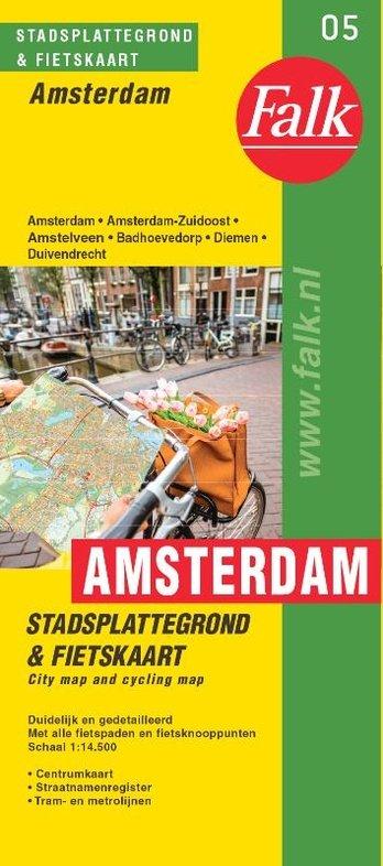 Stadsplattegrond Amsterdam, klein 9789028700000  Falk Pl.g. binnenland  Stadsplattegronden Amsterdam