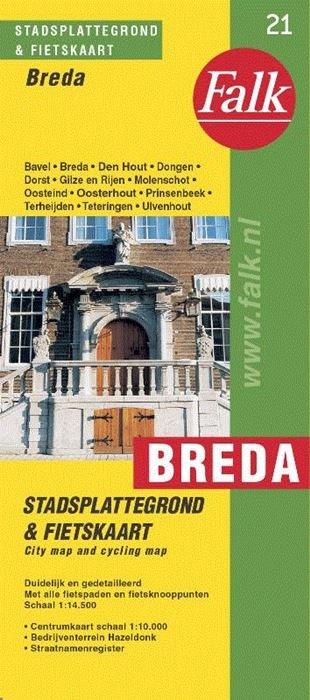 Stadsplattegrond Breda 9789028708150  Falk Pl.g. binnenland  Stadsplattegronden Noord-Brabant