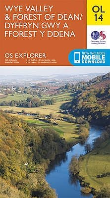 EXP-014  Wye Valley + The Forest of Dean  OL14 | wandelkaart 1:25.000 9780319242537  Ordnance Survey Explorer Maps 1:25t.  Wandelkaarten Wales