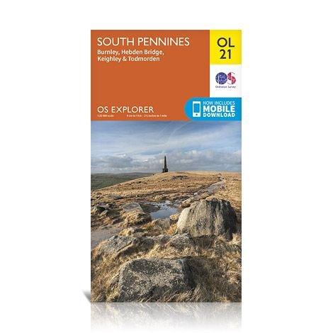 EXP-021  South Pennines   wandelkaart 1:25.000 9780319242605  Ordnance Survey Explorer Maps 1:25t.  Wandelkaarten Northumberland, Yorkshire Dales & Moors, Peak District, Isle of Man