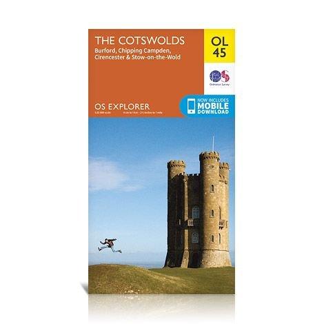 EXP-045  The Cotswolds   OL45 | wandelkaart 1:25.000 9780319242841  Ordnance Survey Explorer Maps 1:25t.  Wandelkaarten Midlands, Cotswolds, Oxford