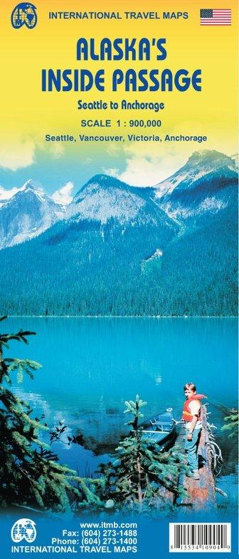 Alaska's Inside Passage | landkaart, autokaart 1:900.000 9781553410904  ITM   Landkaarten en wegenkaarten Alaska, West-Canada, Rockies
