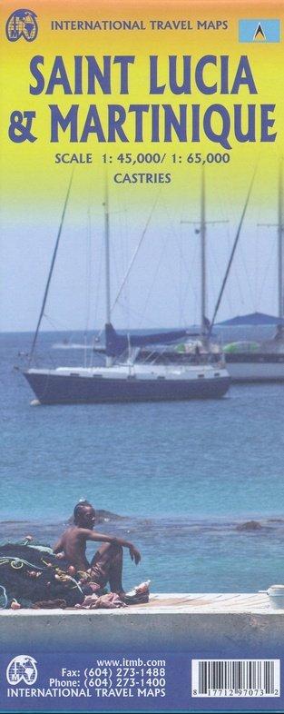Saint-Lucia 1:65.000  -  Martinique 1:45.000 9781771297073  ITM   Landkaarten en wegenkaarten Overig Caribisch gebied