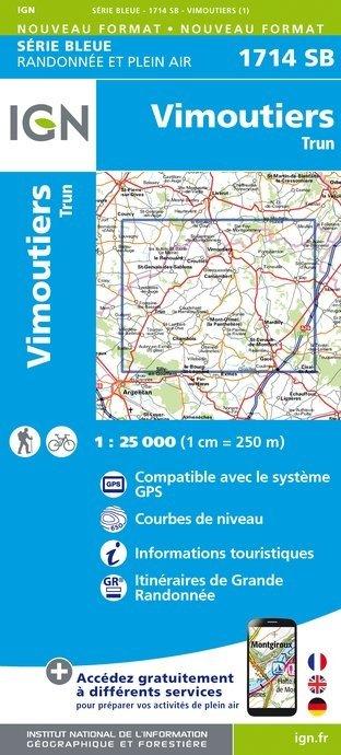 SB-1714SB Vimoutiers/Trun   wandelkaart 1:25.000 9782758534730  IGN Serie Bleue (vernieuwd)  Wandelkaarten Normandië