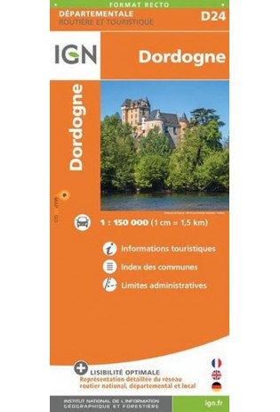 Dordogne 1:150.000 | wegenkaart / overzichtskaart 9782758544166  IGN IGN Spéciales  Landkaarten en wegenkaarten, Fietskaarten